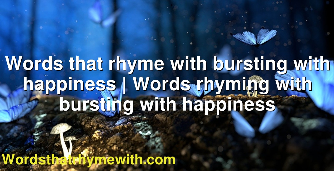 With rhyming happiness words Preschool Fingerplays,