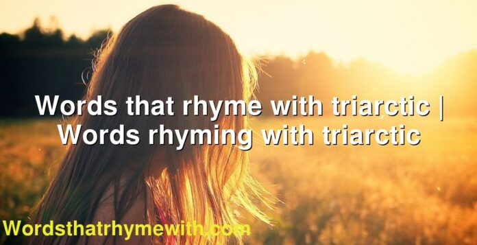 Words that rhyme with triarctic | Words rhyming with triarctic