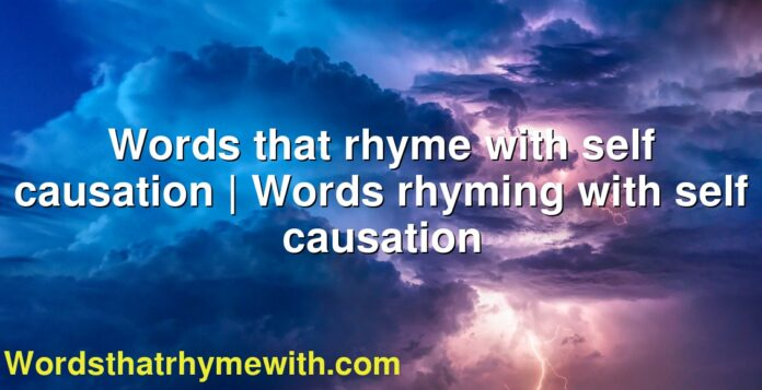 Words that rhyme with self causation | Words rhyming with self causation