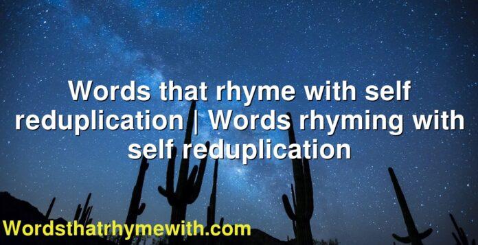 Words that rhyme with self reduplication   Words rhyming with self reduplication