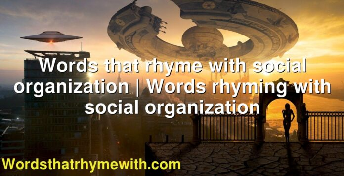 Words that rhyme with social organization | Words rhyming with social organization