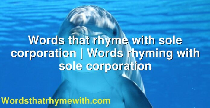 Words that rhyme with sole corporation | Words rhyming with sole corporation