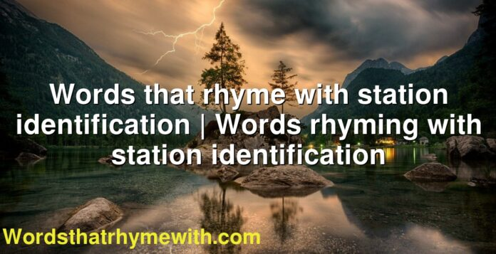 Words that rhyme with station identification | Words rhyming with station identification
