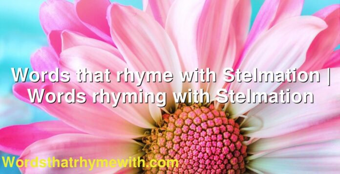 Words that rhyme with Stelmation   Words rhyming with Stelmation
