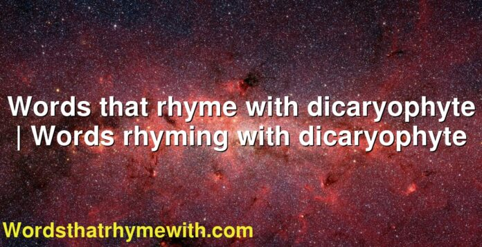Words that rhyme with dicaryophyte | Words rhyming with dicaryophyte