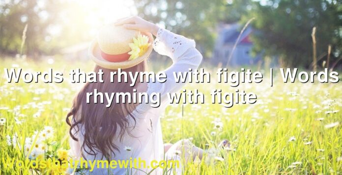Words that rhyme with figite | Words rhyming with figite