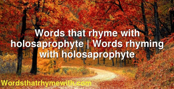 Words that rhyme with holosaprophyte | Words rhyming with holosaprophyte