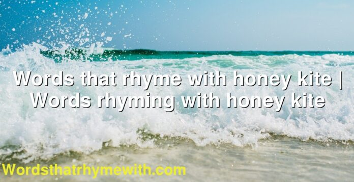Words that rhyme with honey kite | Words rhyming with honey kite