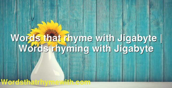 Words that rhyme with Jigabyte | Words rhyming with Jigabyte