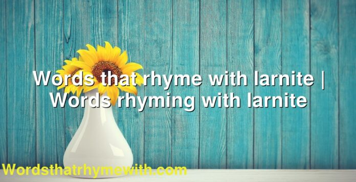Words that rhyme with larnite | Words rhyming with larnite