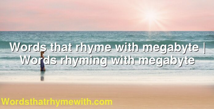 Words that rhyme with megabyte | Words rhyming with megabyte